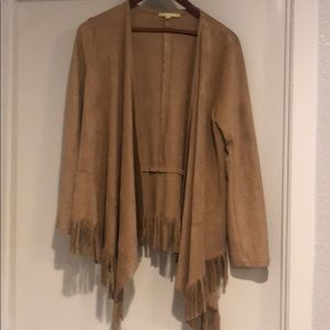 "Suede look fringe ""jacket"""